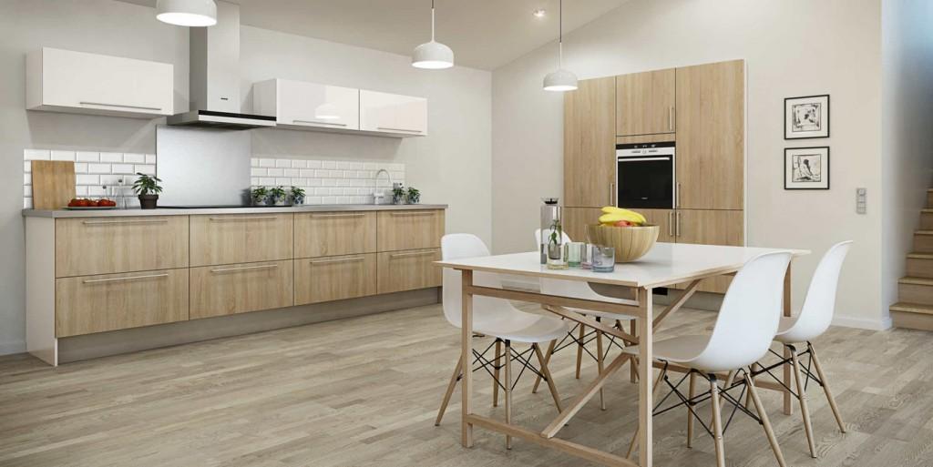 couleur credence cuisine blanc et bois cr dences cuisine. Black Bedroom Furniture Sets. Home Design Ideas