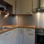 credence cuisine aluminium brosse