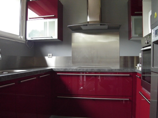 Couleur credence cuisine aluminium brosse cr dences cuisine for Credence alu brosse