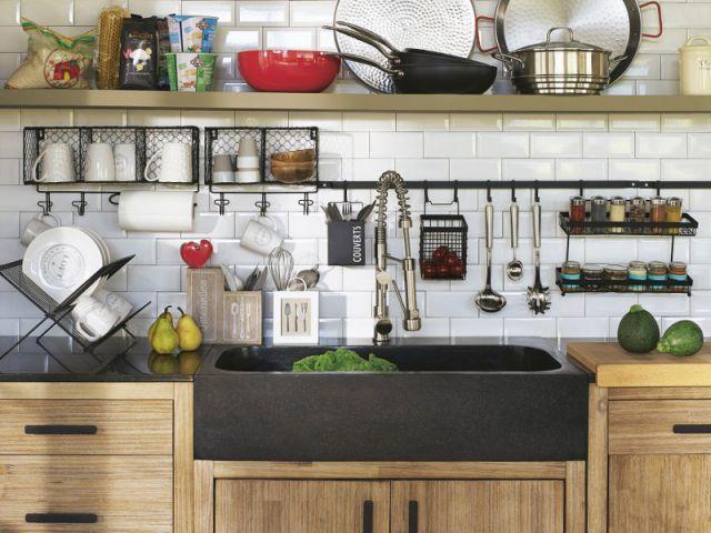 cuisine bois alinea. Black Bedroom Furniture Sets. Home Design Ideas