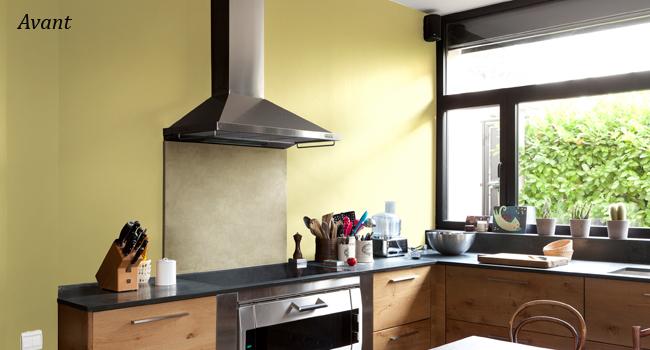 Couleur credence cuisine peinte cr dences cuisine for Peinture pour credence cuisine