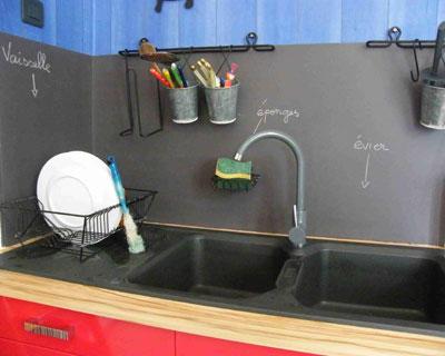 Acheter credence cuisine peinte cr dences cuisine for Credence cuisine ardoise