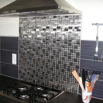 Pose credence cuisine mosaique inox cr dences cuisine for Mosaique credence cuisine