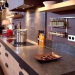 credence murale cuisine bois