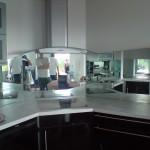 credence murale cuisine miroir