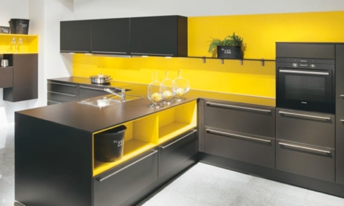 couleur credence cuisine jaune cr dences cuisine. Black Bedroom Furniture Sets. Home Design Ideas