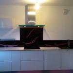 credence cuisine verre noire