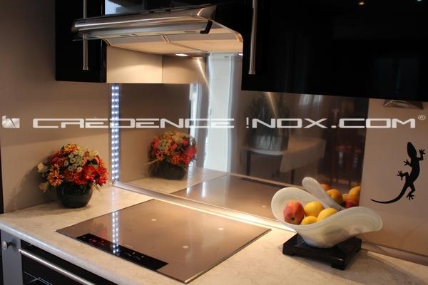 Cr dence cuisine miroir fum id e for Credence cuisine leroy merlin