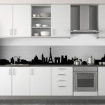 credence cuisine noir et blanc