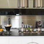 credence cuisine aluminium blanc