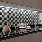 credence cuisine carrelage mosaique