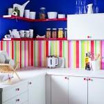 credence cuisine multicolore