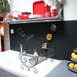 credence cuisine tableau noir