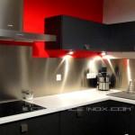 credence murale cuisine inox