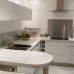 credence cuisine blanc laque