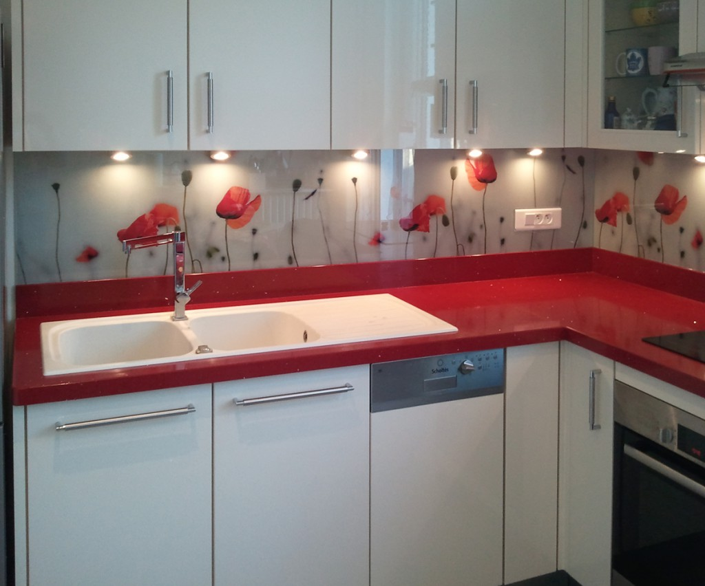 Couleur credence cuisine coquelicot cr dences cuisine for Renovation credence cuisine