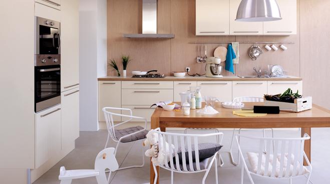 Couleur credence cuisine bois clair cr dences cuisine - Cuisine blanche et bois clair ...