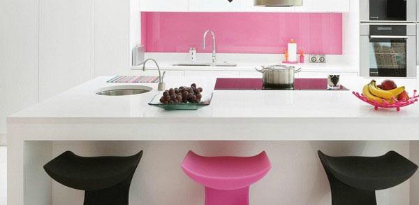 Id e credence cuisine rose cr dences cuisine - Credence cuisine autocollante ...