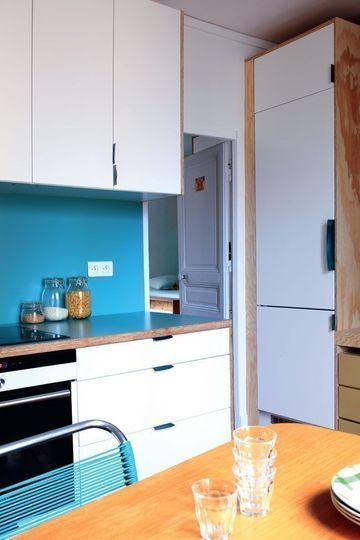 pose credence cuisine turquoise cr dences cuisine. Black Bedroom Furniture Sets. Home Design Ideas