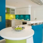 credence cuisine turquoise
