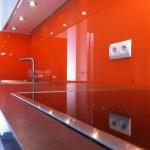 credence cuisine verre orange
