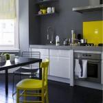 credence avec cuisine grise
