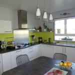 credence cuisine vert anis