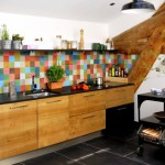 credence murale cuisine couleur