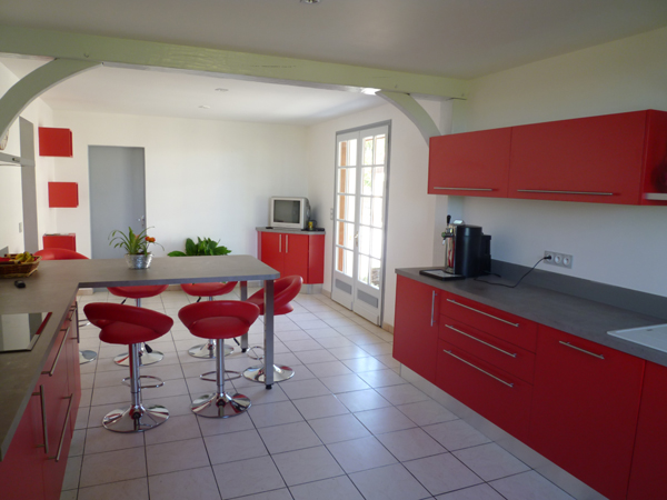 Couleur credence cuisine rouge cr dences cuisine for Credence cuisine amovible