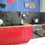 credence murale cuisine ardoise