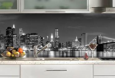 Credence cuisine noir et blanc cr dences cuisine - Credence autocollante cuisine ...