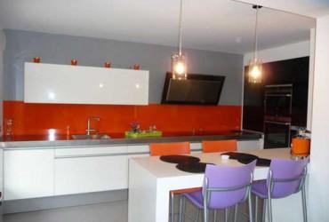 Credence cuisine plan de travail bois cr dences cuisine - Credence cuisine orange ...